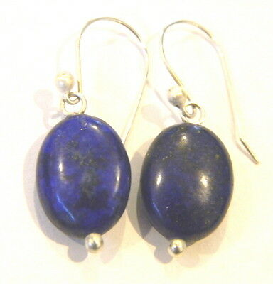 Beautiful Sterling Silver 925  BLUE LAPIS LAZULI gemstone hand made Earrings