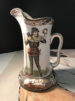 "Antique Buffalo Pottery Deldare 1908 ""Robin Hood"" By Lewis H Brown. Great Cond."