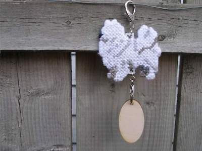 American Eskimo Dog crate tag hang anywhere handmade sign any day ornament Spitz
