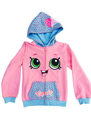"Shopkins Girls Fleece Hoodie ""Cupcake Chic"" Pink Size"