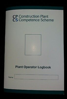 Cpcs Construction Plant Operators Log Book Competence Scheme.