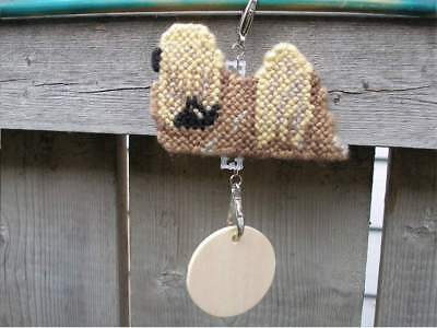 Lhasa Apso dog crate tag or hang anywhere handmade pet sign any day ornament art