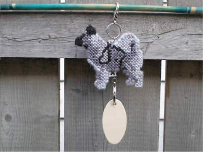 Norwegian Elkhound dog crate tag or hang anywhere handmade sign any day ornament