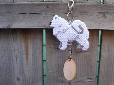 Samoyed dog crate tag or hang anywhere handmade pet sign any day ornament art