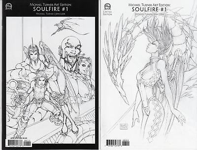 Michael Turner Art Edition Soulfire #1 Cover A and B NM (2016) Aspen