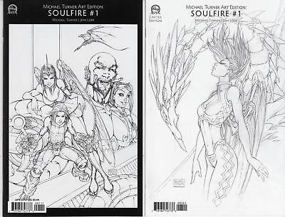 Michael Turner Art Edition Soulfire #1 Cover A and B NM (2016)
