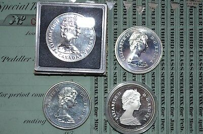 Lot of 4 Canadian Silver Coins