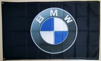 BMW Logo Car Show Garage Wall 3x5 Flag Banner Gift M Coupe Roadster M Power
