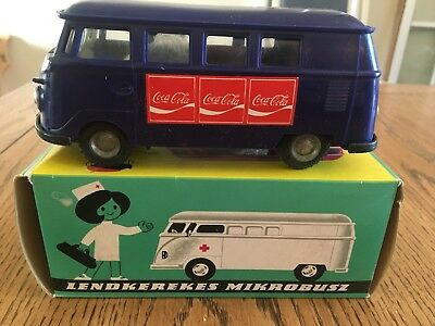 Blue Coca Cola Flywheel Minibus- Made In Hungry