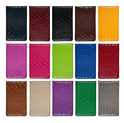 Faux Leather Golf Score Card Holder 15 Colors