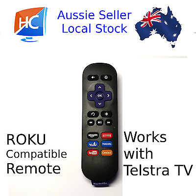 Compatible Roku 4/3/2/1 Telstra TV Remote - Aussie seller (remote only)