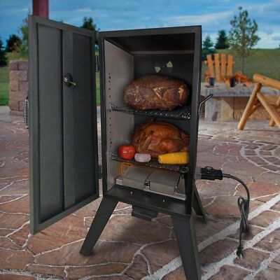 Commercial BBQ Vertical Electric Smoker Grill Wood Chip Meat Outdoor 26142E