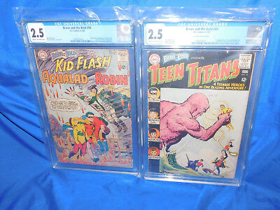Brave & The Bold #54 & 60 CGC 2.5 1st Appearance Of The Teen Titans Wonder Girl