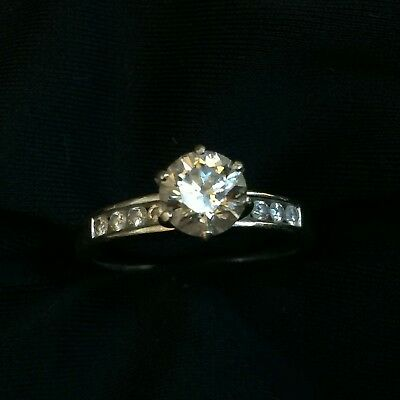 White Gold Diamond Engagement Ring With Citizen Watch