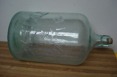 Old CRYSTAL WATER 5 gallon glass Water Bottle