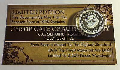 "New 2014 Certified ""AUSTRALIAN MERINO"" 1/10th OZ 999.0 Pure Silver Proof Coin"