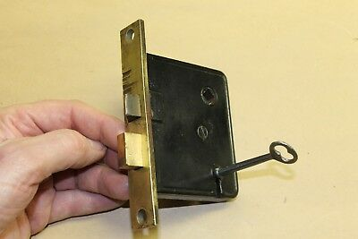 Antique Vintage Mortise Lock withKey - Lot #5