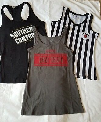 Bartender servers tank tops NEW womens large Smirnoff Jim Beam Southern Comfort