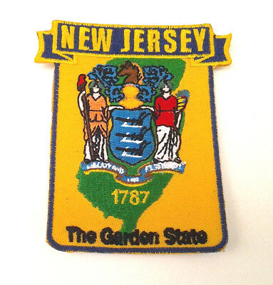 *** NEW JERSEY STATE MAP *** Biker Patch PM6731-2 EE
