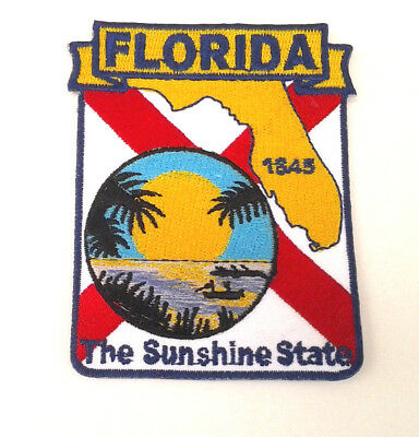 *** FLORIDA STATE MAP *** Biker Patch PM6710 EE