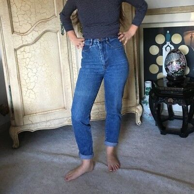 VINTAGE 80s HIGH WAISTED RIO MOM JEANS MEDIUM WASH SIZE 5
