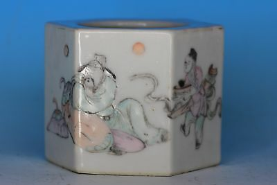 Nice Chinese Famille Rose Hexagon Porcelain Antique Water Pot