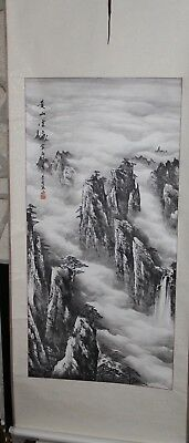 Chinese Scroll Hand Painting Landscape Signed Artist