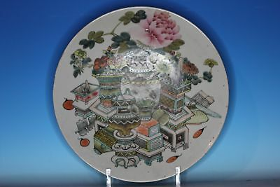 Large Chinese Famille Rose Porcelain Antique Charger