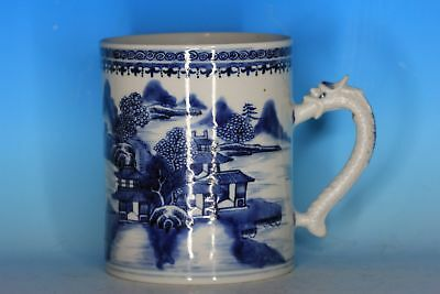 Fine Chinese 18Th C Export Blue And White Porcelain Antique Mug