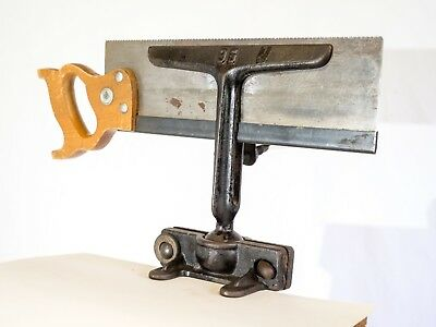 Antique Saw Sharpening Jig (Bench Mount) with Saw Set Tool