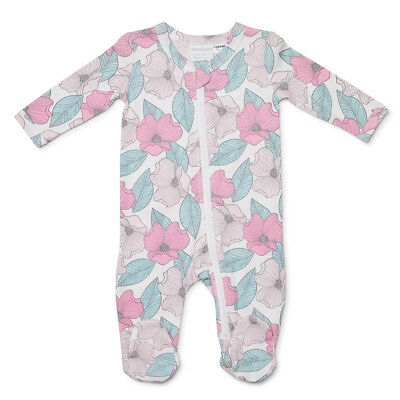 NEW Marquise Footed Zipsuit Floral Size 000