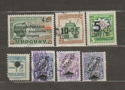 e1079)                            STAMPS FROM URUGUAY - OVERPRINTED