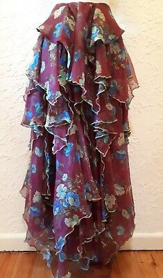 Vintage 70s /80s HOUSE OF MERIVALE Layered Skirt Boho Festival Hippy