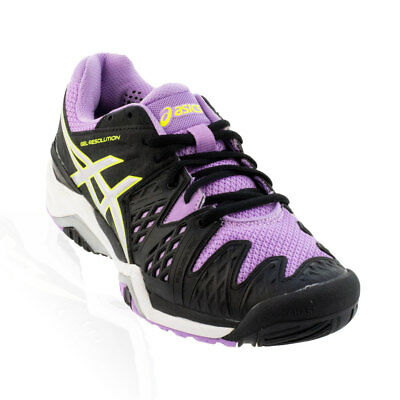 Asics - Gel-Resolution 6 Tennis Shoe - Black/Silver/Orchard