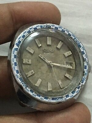 Swiss CAMY 7467 Automatic Mov.ETA 2472 Woring 38mm Cr Case Men Watch
