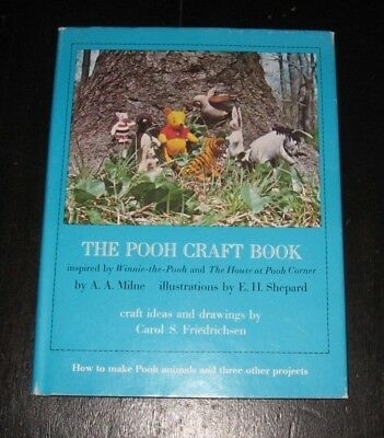 1976 The Winnie the Pooh Craft BOOK patterns ideas projects Piglet TIGGER Eeyore