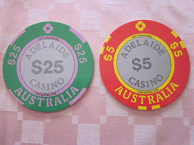 Adelaide casino chips coasters, thick card type as chips.