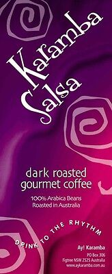 1Kg Dark Roasted Gourmet Coffee Beans - Karamba Salsa