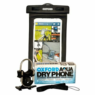 Oxford Dryphone Waterproof Motorcycle Handlebar Phone Mount Motorbike GPS Holder
