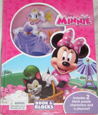 Disney Minnie Book&Blocks, include 2 block puzzle characters and a playmat!