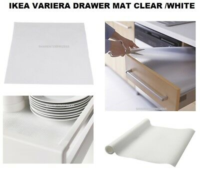 IKEA Rationell Variera White Kitchen Cupboard Drawer Liner Non Slip Rubber Mat