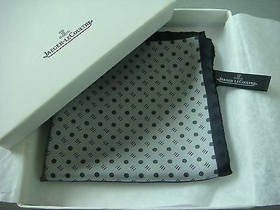 Jaeger LeCoultre 100% Silk Handkerchief Made in Italy Boxed & New