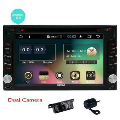 Front Camera + Backup Camera+ Upgrade Android 6.0 Car DVD Player Double Din...