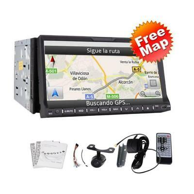High Def 7 Inch In Dash 2 Din Car Stereo DVD Player GPS Navigation 3D...
