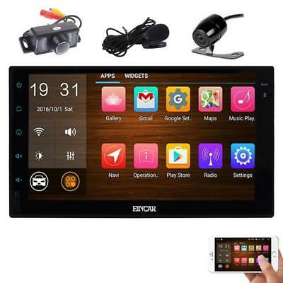 Front & Backup Camera Include! 7 inch Car Stereo Quad-Core CPU Android 6.0...