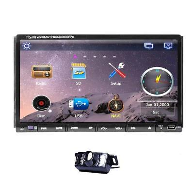 Rear Camera Included 7-Inch Double Din GPS Car Stereo In Dash Head Unit DVD...