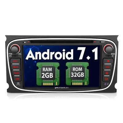 Pumpkin 2GB 32GB Android 7.1 Car Stereo Bluetooth for Ford Focus Mondeo...