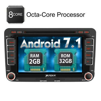 Pumpkin Android 7.1 Octa Core 32GB 2GB Car Stereo Radio with Bluetooth for...