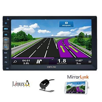 7 inch 2 Din Mirror Link for Android GPS Navigation Phones In Dash Car...