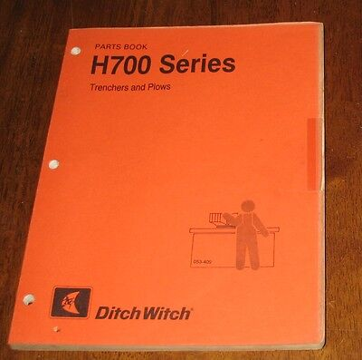 Ditch witch 1010 parts book 4000 picclick ditch witch h700 series parts book trenchers plows earth saws fandeluxe